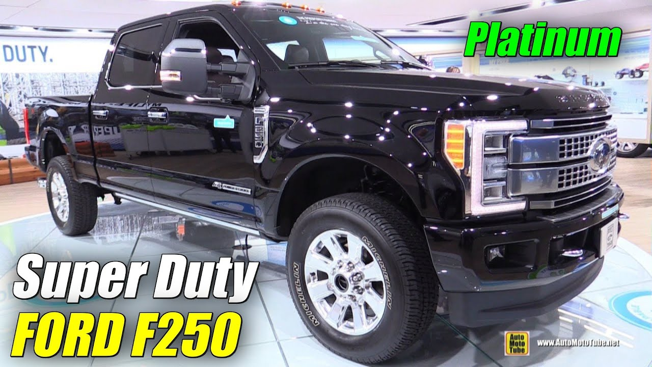 2017 ford f250 super duty platinum exterior interior walkaround debut at 2016 detroit auto show youtube