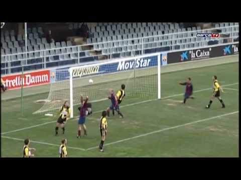Messi's debut with Barça B
