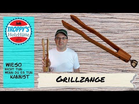 Grillzange aus Holz schnell und einfach selbst gebaut...