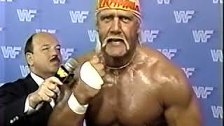 Hulk Hogan Interview but he is having an asthma attack (San Francisco Promo 1988)