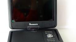 Tragbarer DVD-Player mit Akku - Unboxing, Testbericht, Review, Fazit [german] | Nerdy Testing