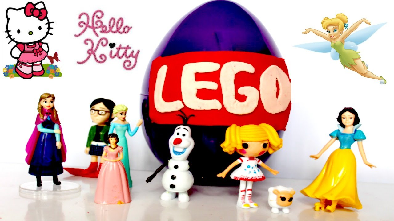 Giant Surprise Egg Lego Hello Kitty Tinkerbell And Snow