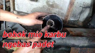 Gambar cover Bobok knalpot mio karbu dan cara pasang saringan nya