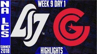 CLG vs CG Highlights   NA LCS summer 2018 Week 9 Day 1   CLG vs Clutch Gaming Highlights