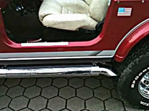 Jeep Cj7 V8 Straight Pipe Fap Sound Youtube