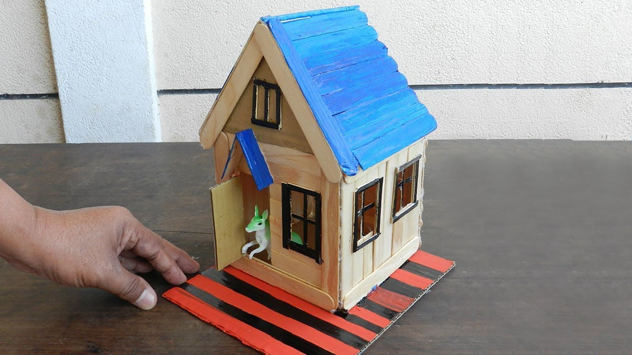 How To Make Popsicle Stick House For Rat | 4 DIY Hamster House Ideas