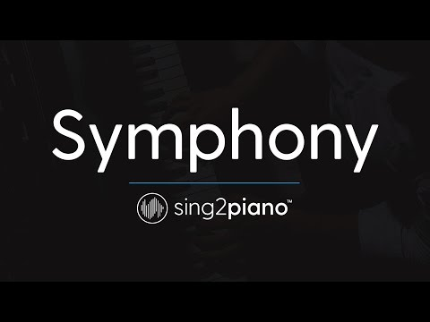 Symphony (Piano Karaoke Instrumental) Clean Bandit & Zara Larsson