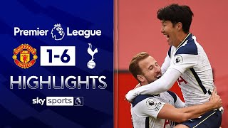 Kane and Son shine as Man Utd capitulate | Man Utd 1-6 Tottenham | Premier League Highlights