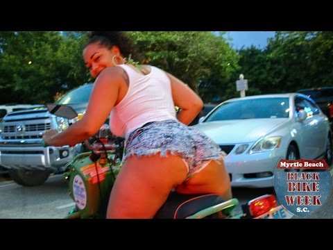 Thick Girl on Scooter at Black Bike Week - YouTube