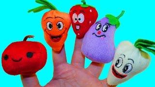 Учим фрукты и овощи Сборник Для самых маленьких Развивающее видео детям Поем песню Семья пальчиков