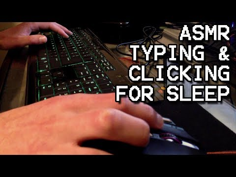 ASMR Typing and Clicking Sounds for Relaxation and Sleep