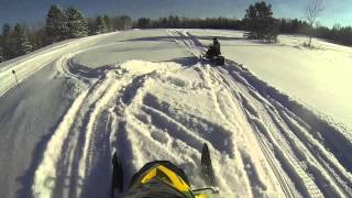 Snowmobiling In Hurley WI