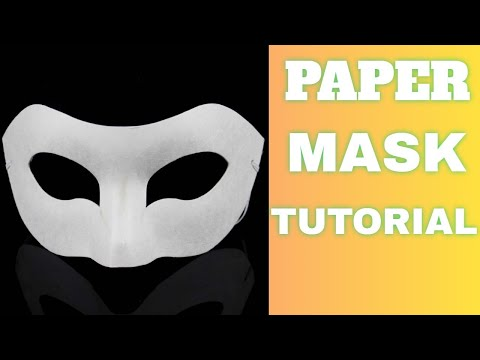 Paper Mask Origami Tutorial | DIY Paper Mask for Kids (EASY!)
