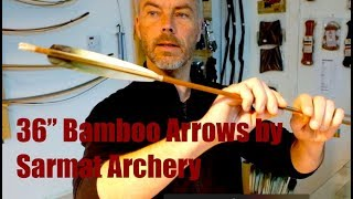 "Archery Review: 36"" Bamboo Arrows by Sarmat Archery"