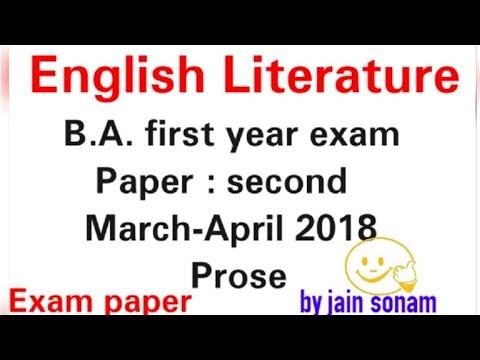 English literature, B.A.