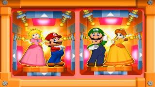 Mario Party 7 Minigames - Couple's Battle - Mario and Peach vs Luigi and Daisy