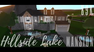 Hillside Lake Mansion 189K | Roblox Bloxburg [SPEEDBUILD]