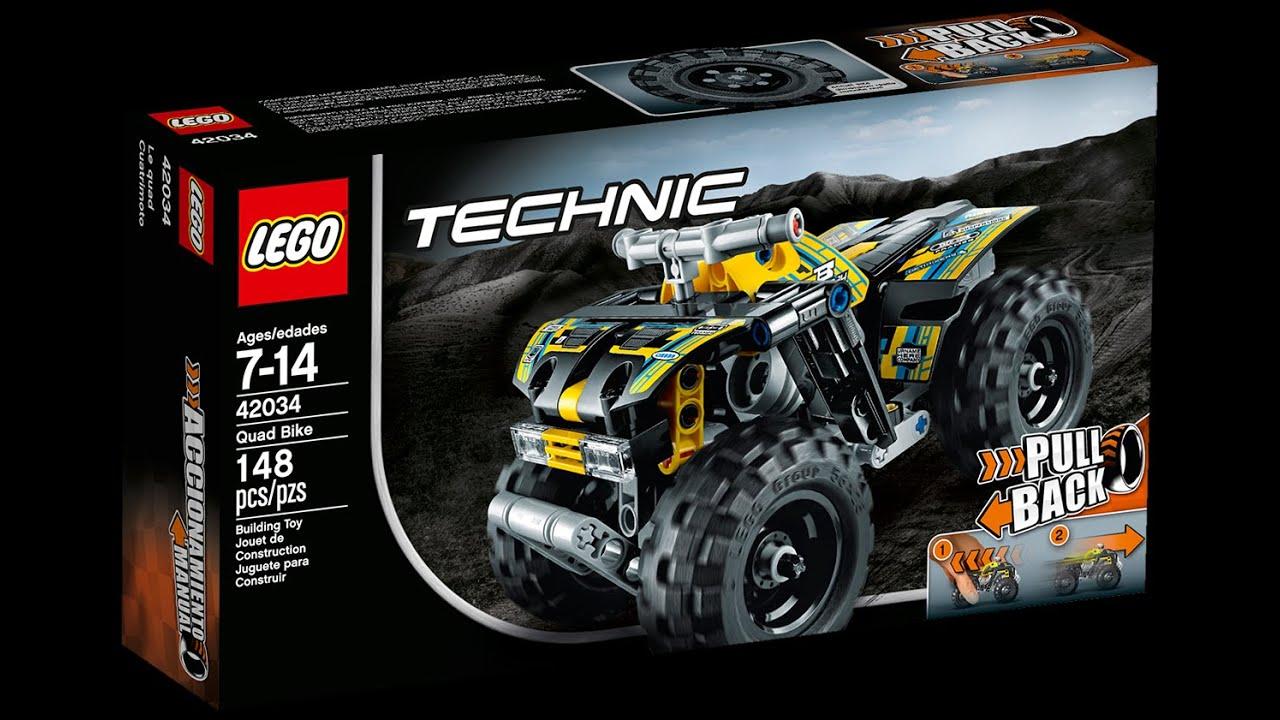 lego technic quad bike 42034 youtube. Black Bedroom Furniture Sets. Home Design Ideas