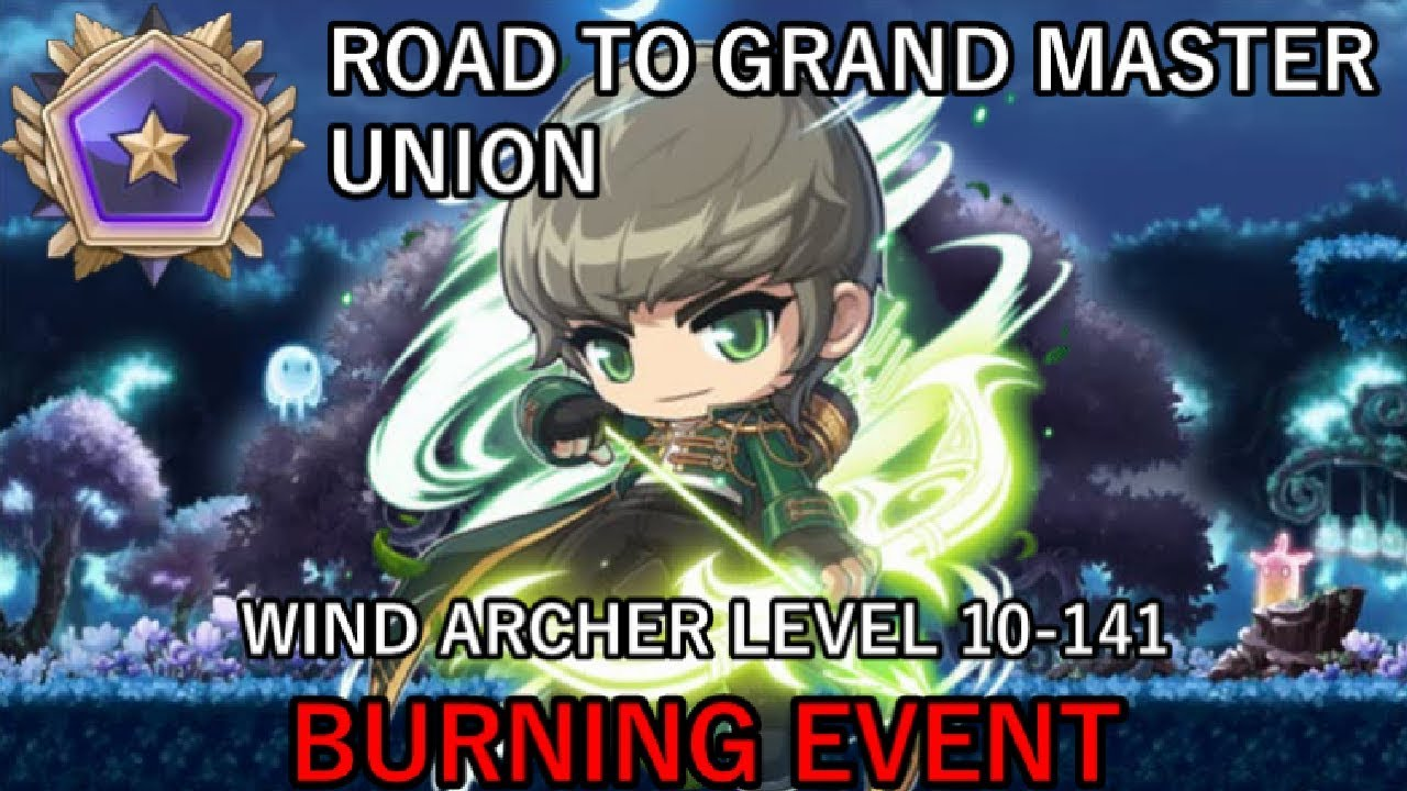 WIND ARCHER LEVEL 10-141 (MapleStory Road to Grand Master Union Ep 38)