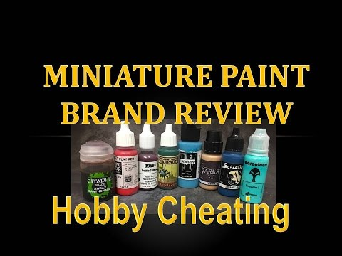 Hobby Cheating 80 - Miniature Paint Brand Guide