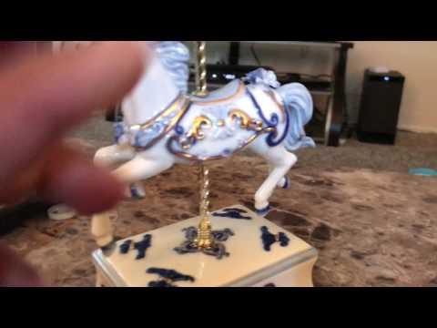 Beautiful carousel horse music box