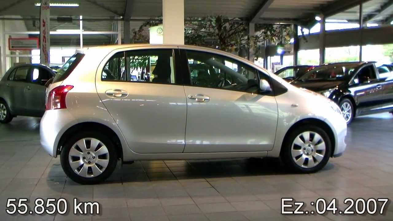 toyota yaris 1 3 vvt i sol 2007 silber metallic 150205 youtube. Black Bedroom Furniture Sets. Home Design Ideas