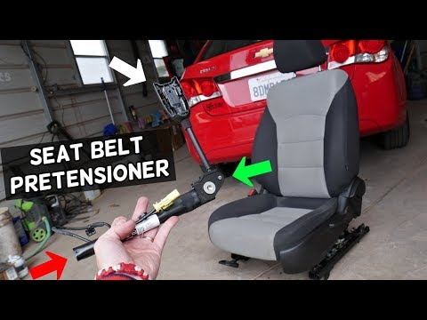 CHEVROLET CRUZE FRONT SEAT BELT PRETENSIONER REMOVAL REPLACEMENT. CHEVY CRUZE