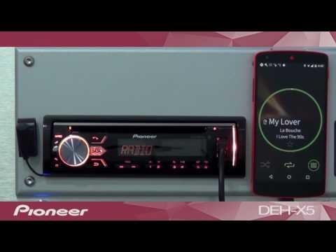 MP3 Player Automotivo Pioneer MVH-X588BT Mixtrax - USB, Aux ARC e Bluetooth - Premier Shop