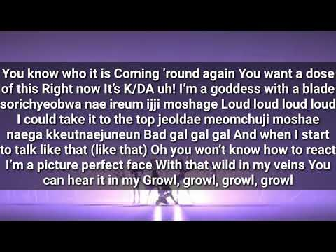 K/DA - 'POP/STARS (ft Madison Beer, (G)-IDLE, Jaira Burns)' LYRICS