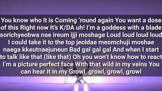 K/DA - 'POP/STARS (ft Madison Beer, (G)-IDLE, Jaira Burns)' LYRICS
