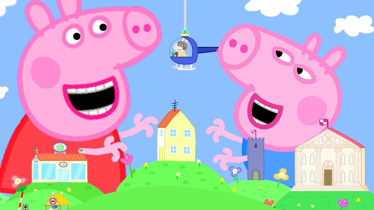 Download Peppa Pig Official Channel | Giant Peppa Pig at the Tiny Land