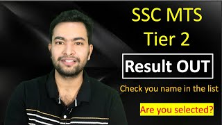 SSC MTS 2019 result out  Are you selected?
