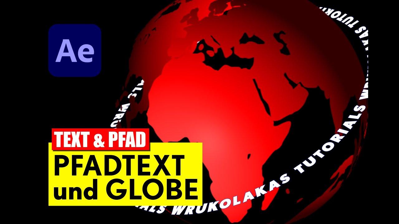 After Effects: Text an Pfad ausrichten - Tutorial - deutsch