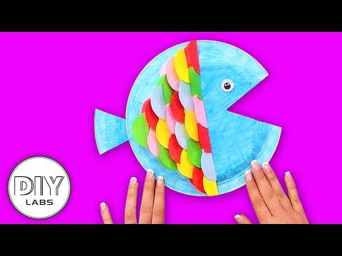 How to make a COLORFUL FISH | Paper Plate Craft | Fast-n-Easy | DIY Arts & Crafts for Kids