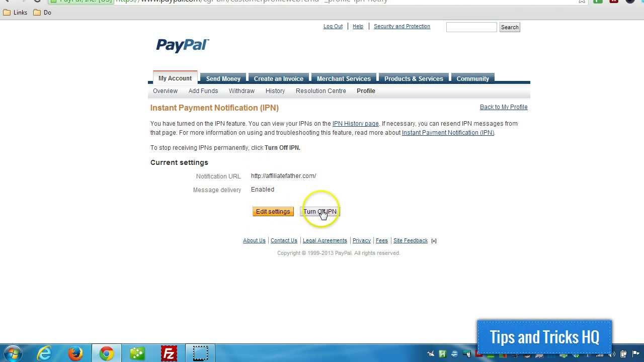 How to Enable PayPal IPN (Instant Payment Notification) in Your PayPal  Account