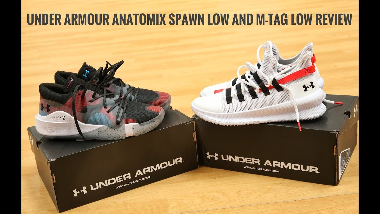 cubrir Deformar asignación  Shoe Review #2: UNDER ARMOUR ANATOMIX SPAWN LOW AND M-TAG LOW! - YouTube