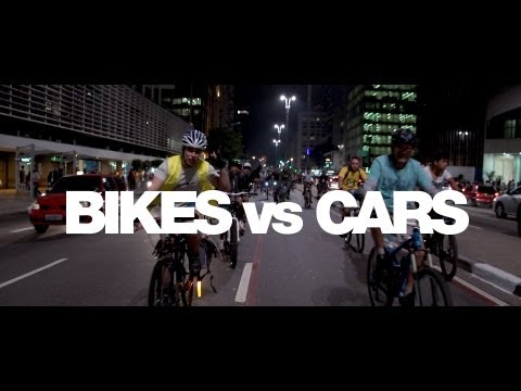 cars vs bicycle Bikes vs cars depicts a global crisis that we all deep down know we need to talk about: climate, earth's resources, cities where the entire surface is consumed.