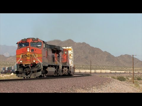 HD: Needles Subdivision Railfanning in May 2014