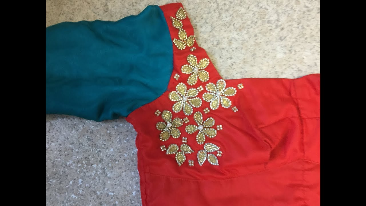 Flower Designer Blouse How To Make Designer Blouse At Home Youtube