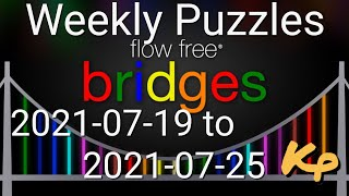 Flow Free Bridges - Weekly Puzzles - Rectangle Challenge - 2021-07-19 to 25 - July 19th to 25th 2021 screenshot 3