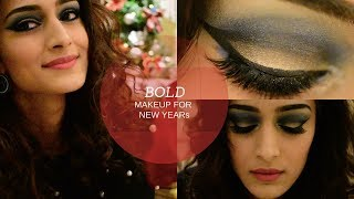 Bold New Years makeup tutorial