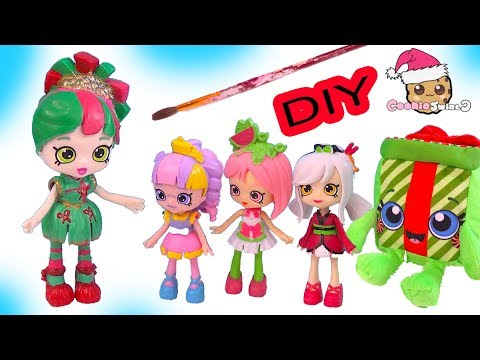 DIY Custom Painted Happy Places Shopkins Christmas Holiday Doll - Do It Yourself Video