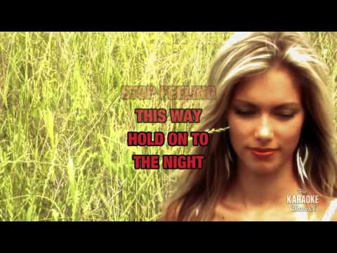 Hold On To The Night in the style of Richard Marx | Karaoke with Lyrics