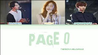 ( SUB INDO ) TAEYEON (태연) X MELOMANCE (멜로망스) - 'Page 0' LYRICS [HAN|ROM|INDO COLOR CODED] 가사