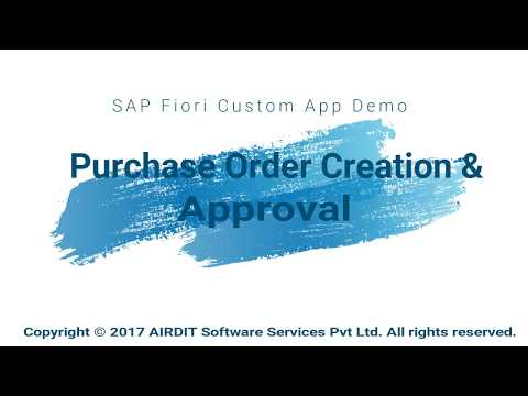 Procurement Fiori App: Purchase Order creation and Approval