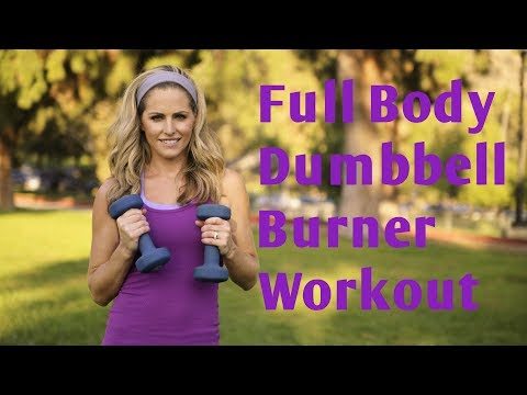 30 Minute Full Body Dumbbell Burner Workout for Strength & Cardio