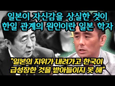 """일본이 자신감을 상실한 것이 한일 관계의 원인이란 일본 학자 """"일본의 지위가 내려가고 한국이  급성장한 것을 받아들이지 못 해"""""""
