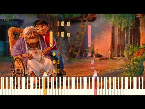 Remember Me/Recuérdame (Lullaby) - Pixar's COCO [Piano Tutorial] (Synthesia)