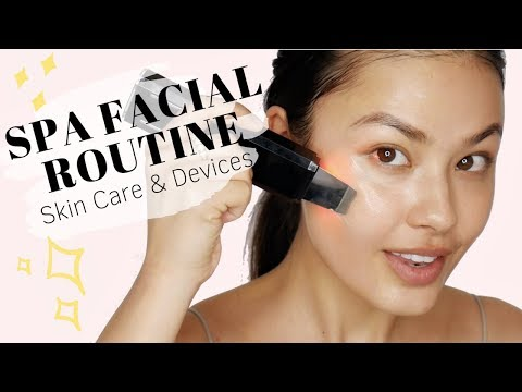 6-Step Spa Facial Skincare Routine | Products + Skin Devices! thumbnail