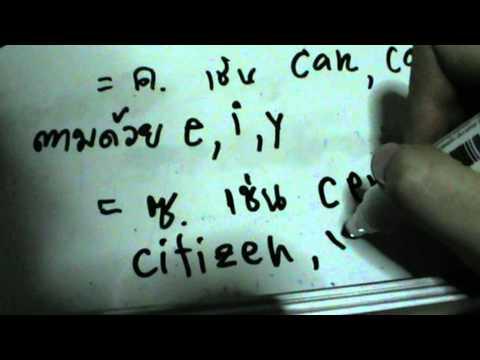 เทียบอักษรภาษาอังกฤษกับพยัญชนะไทย